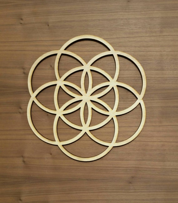 Seed of Life Sustainable Wood Lasercut Wall Art