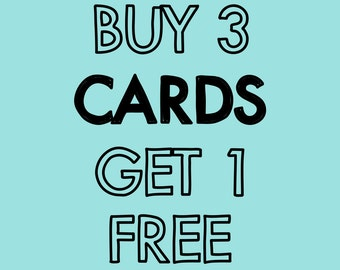 Buy 3 Cards, Get 1 Free
