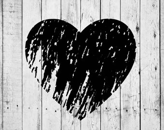 Distressed Heart SVG/Vector