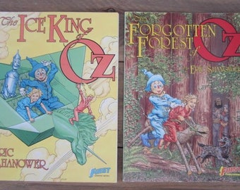 Two Vintage Oz Comic Books The Ice King Of Oz & The Forgotten Forest Of Oz By Eric Shanower