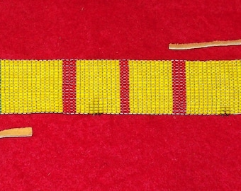 Vietnam Veteran Colored Beaded Wrist Band