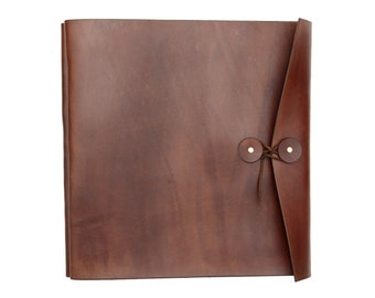 Leather Photo Album, Leather Album, Leather Scrapbook, Personalized Leather Photo Album