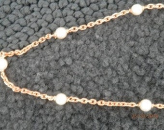 Necklace in gold 18 k and freshwater pearls