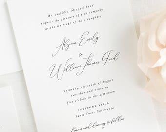 Alyssa Wedding Invitation - Deposit