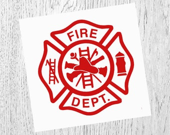 Fire Department Decal, Fire Department Gift, Vinyl Decal, Yeti Decal, Car Decal, Gifts for her, Phone Decal, Laptop Decal, Yeti Cup