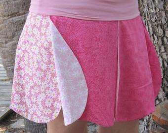 Rose Skirt, jupe de fée fleur, Jupe fleur, costume de fée, réversible, fille ou femme