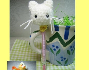 Kitty Pencil Toppers  - Crochet Pattern - PDF File plus FREE Juggling Cats pattern