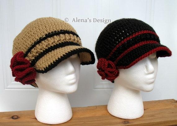Crochet Pattern 146 - Hat Crochet Pattern Era Visor Hat - Visor Beanie Ladies Hat Toddler Child Teen Adult Autumn Girls Boys Men Unisex