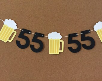 Beer and Age garland, paper garland, Beer garland, Beer banner, Birthday garland