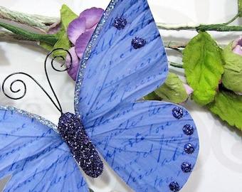 Butterfly Embellishments Vintage Lilac Script