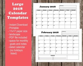 11x17 calendar template 2018 juve cenitdelacabrera co