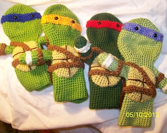 Crochet Ninja Turtles golf club cover  Great for Fahter's Day