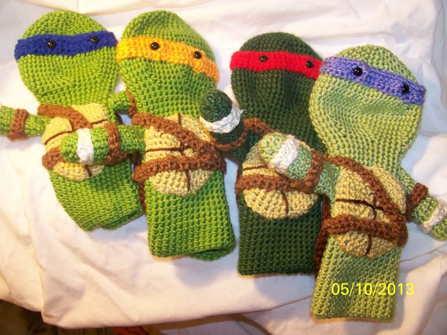 Crochet Ninja Turtles golf club cover Great for Fahter\'s
