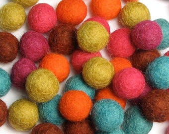 Collection - 60PC Piece CIRQUE Felt Balls