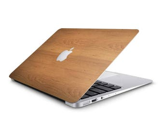 Walnut Wood Macbook Skin