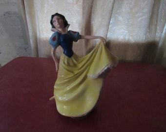 Snow White music box ceramic figure