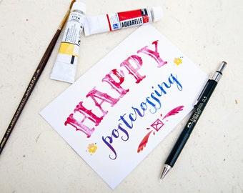 Happy Postcrossing Postcard