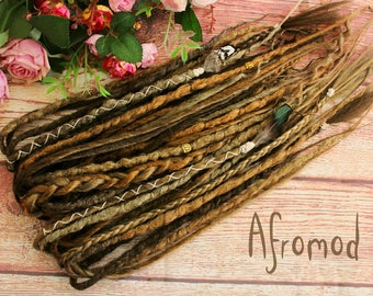 "Double Ended Synthetic Dreads ""Viking Mood Set"" by Afromod"