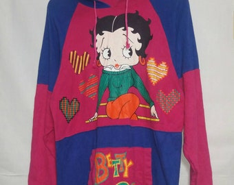 Vintage betty boop hooded LARGE SIZE