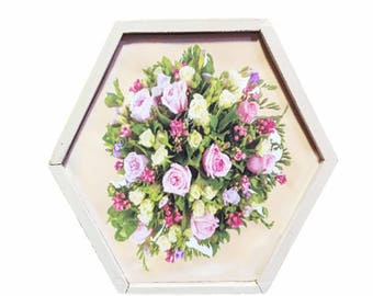 "Keepsake ""Bouquet of Pink Roses"" Wood Box"