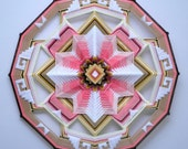 Golden Sunset, a 24 inch, wool yarn, Ojo de Dios, by Jay Mohler, In stock, ready to ship
