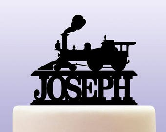 Personalised Acrylic Steam Engine Train Locomotive Cake Topper