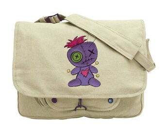 Voodoo Doll Embroidered Canvas Messenger Bag