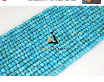 1 strand natural Turquoise beads, Turquoise gemstone, 3-4mm Turquoise beads, faceted Turquoise, rondelle Turquoise, Turquoise necklace