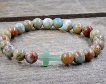 African Opal with Small Cross