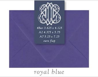 Royal Blue | 10 Blank Euro Envelopes | A7 • A2 • RSVP