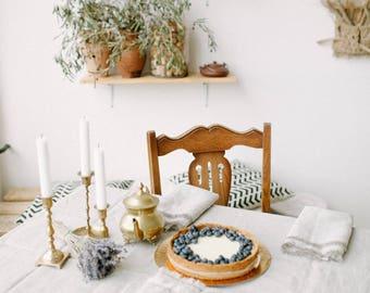 Tablecloth set Linen tablecloth Linen napkins Rustic wedding table Custom tablecloth Natural napkins Natural tablecloth Linen table top