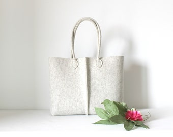 Elegant and Casual Felt Bag from Italy, Tote Bag, Market Bag, Felt Tote, Everyday Tote, gift for her, stocking fillers.
