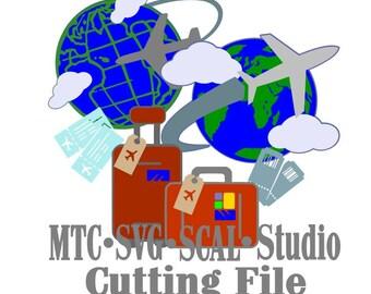 SVG Travel Cut File Bundle Embellishment SCAL Cricut MTC Silhouette Cutting Files