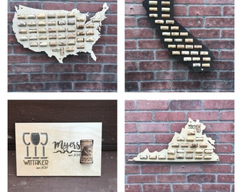 Wine Cork Map Wine Gift Wine Cork Sign Man Cave Decor Cork Maps Wine Gift for Her Camping Sign Wine Sign Wine Cork Valentine's Gift for Her