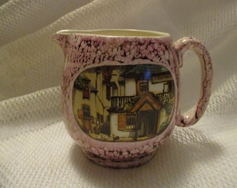Vintage Lancaster Ltd creamer with farm scene