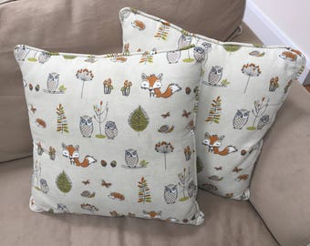 Bepsoke Cushions Nature Inspired Woodland Animal Pattern