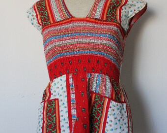 SALE 60s/70s boho top by Peppermill of California / xs