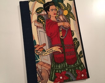 Frida Kahlo Hard Cover Journal: Blue