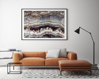 Mineral Photography - (Print #165)  Laguna Lace  -  Fine Art Print - Two Paper Choices- Mineral Geode Agate Crystal Decor