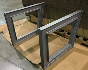 Fabricated desk table legs