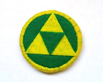 The Legend of Zelda Triforce Badge Pin Patch