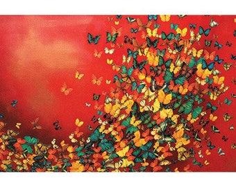 Lily Greenwood (Butterflies on Burnt Umber) Art Print 50 x 100cm  PPR41166