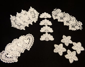 20 Pc Venise Lace Applique Set