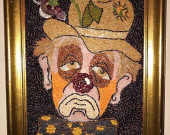Sad clown crop art