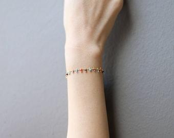 Colorful Bead Bracelet // Summer Bracelet // Beaded Bracelet