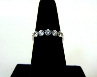 Womens Sterling Silver .925 Ring w/ Diamond Cut CZ Stone 2.9g #E2630