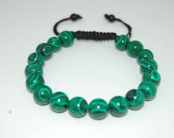 Malachite Bracelet,Malachite Shamballa Bracelet,Malachite 8mm Gemstone Beads,Man,Woman,Yoga,Meditation Bracelet,Ethnic Bracelet