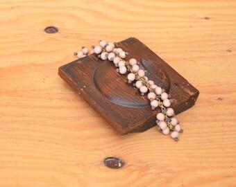 Unique Large Ceramic Peach Beaded Bracelet Very Boho Beautiful