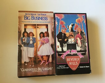 Lot of 2 BETTE MIDLER Big Business, Down and Out In Beverly Hills (VHS)