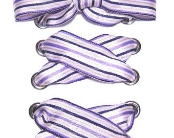 """THE SHOELACES SHOP-Purple Striped Ribbon Shoelaces, Shoe Laces, Satin Shoelaces, Purple Shoelaces, Striped Shoelaces, """"Pretty in Purple"""""""